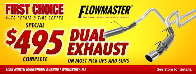 Flowmaster Dual Exhaust Coupon $495 Complete